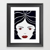 Jealous Girl Framed Art Print