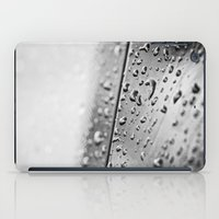 black and white drops iPad Case