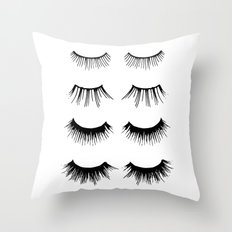 Beauty Lashes Throw Pillow