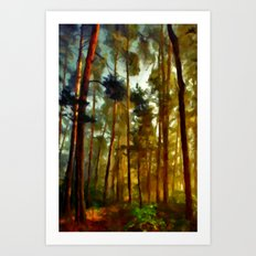 Morning In The Woods - Painting Style Art Print
