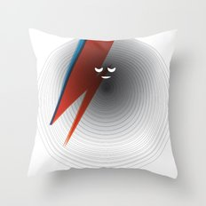 Round Bowie Throw Pillow