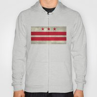 Washington D.C flag with worn stone marbled patina Hoody