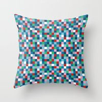 Colour Block Mini #4 Throw Pillow
