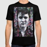 ELVIS Mens Fitted Tee Black SMALL