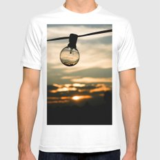 Unlit Sunset.  Mens Fitted Tee SMALL White
