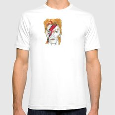 Bowie birthday card White Mens Fitted Tee SMALL