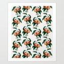 Peach Pattern Art Print