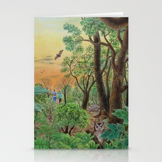 A Day of Forest (9). (the forest at night) Stationery Card