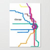 Chicago Subway Canvas Print