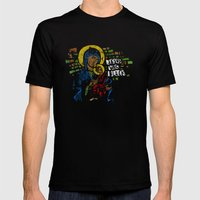Jesus Was Black Mens Fitted Tee Black SMALL