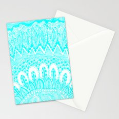 Blue and White Doodle Stationery Cards