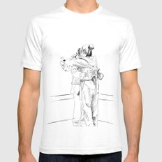 After the Match Mens Fitted Tee White SMALL