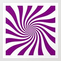 Swirl (Purple/White) Art Print