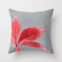 Pink Autumn Throw Pillow