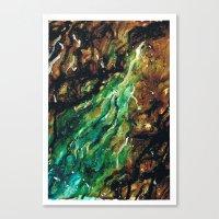Emerald Vein  Canvas Print