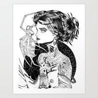 MA ROBE SE DEROBE Art Print