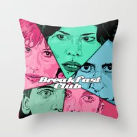 Breakfast Club Colors Throw Pillow