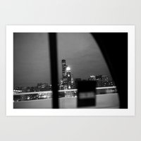 From the back of a cab Art Print