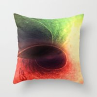 Tunnel Vision Distortion Throw Pillow