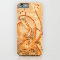Octopus Drinking Tea iPhone 6 Slim Case