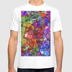 Cosmic Marbles Mens Fitted Tee White SMALL