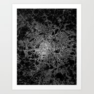 Paris Map #2 Art Print