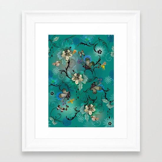 The Butterflies & The Bees  Framed Art Print