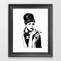 Audrey Hepburn. Rebel: C… Framed Art Print