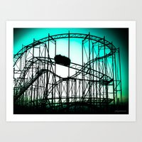 Wild Cat Roller Coaster Art Print