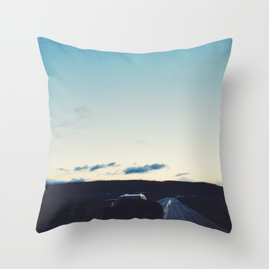 Bison in the Headlights Throw Pillow