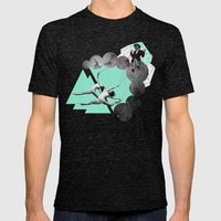 AIR Mens Fitted Tee Tri-Black SMALL