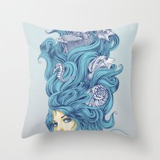 Ocean Queen Throw Pillow