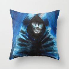 The Hooded One Throw Pillow