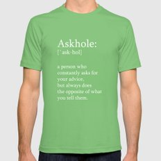 Askhole Mens Fitted Tee Grass SMALL