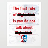 The First Rule Of Fight … Art Print