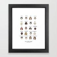 The Office Mood Chart Framed Art Print