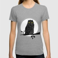Night Owl V. 2 Womens Fitted Tee Tri-Grey SMALL