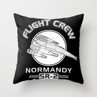 Normandy Flight Crew Throw Pillow