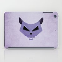 Purple Funny Evil Cat Skull iPad Case