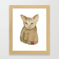 Totem Kitteh 1 Framed Art Print