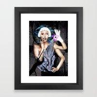 LADY OF THE ILLUMINATI Framed Art Print