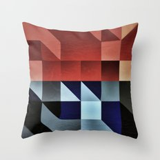 :: geometric maze IX :: Throw Pillow