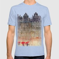Brussels Mens Fitted Tee Tri-Blue SMALL