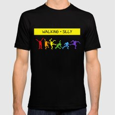 Pop Shop Silly Walks Mens Fitted Tee Black SMALL