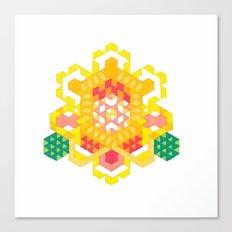 Yellow Lotus Rose Canvas Print