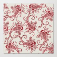Paisley: Vintage RED  Canvas Print