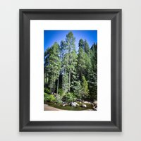 Tall Beauty Framed Art Print