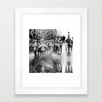 Summer space, smelting selves, simmer shimmers. 17, grayscale version Framed Art Print