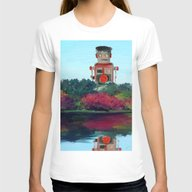 Walk In The Park Womens Fitted Tee White SMALL