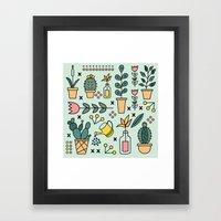 Inside Garden Framed Art Print
